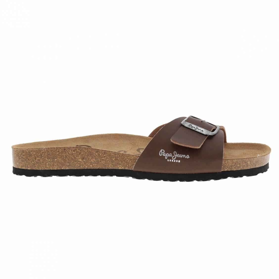 Sandales pepe jeans bio marrons