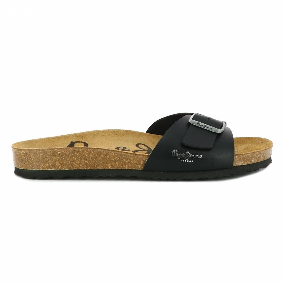 Sandales pepe jeans bio noires