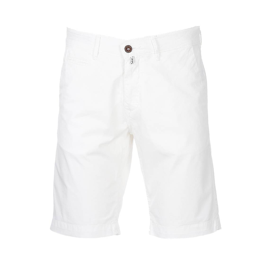 Short chino  lyon en coton stretch blanc