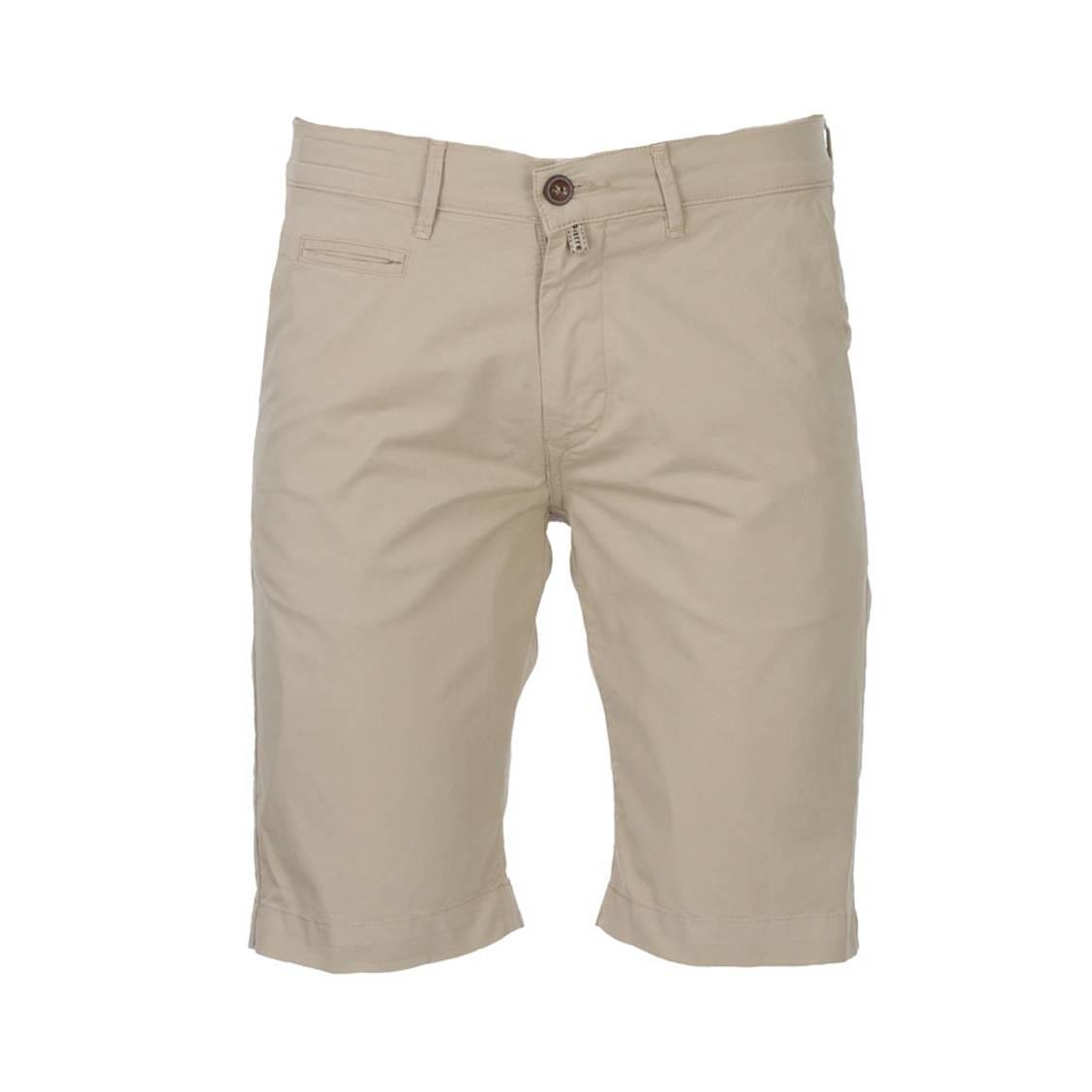 Short chino  lyon en coton stretch beige