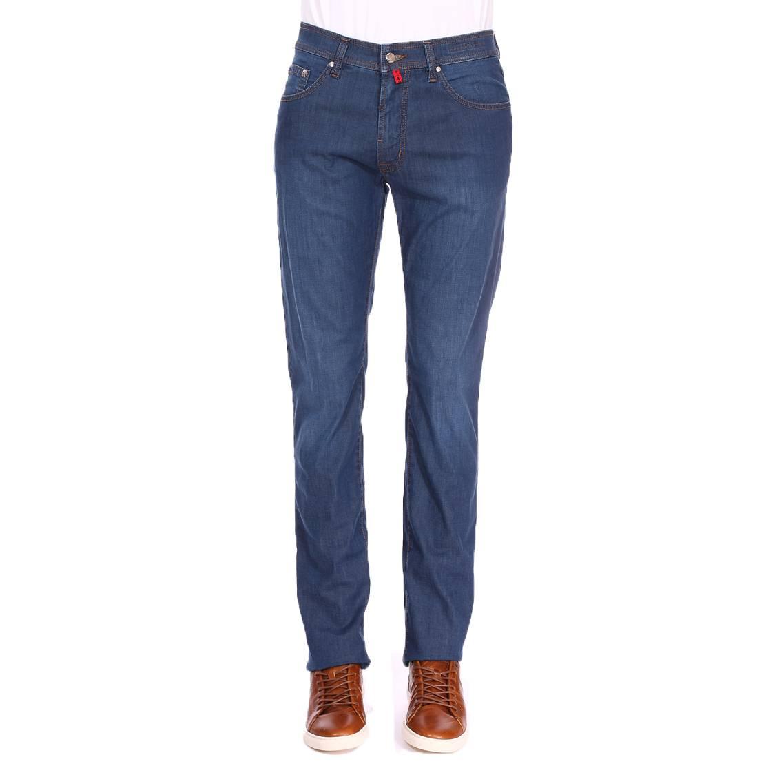 Jean  deauville en coton mélangé stretch bleu