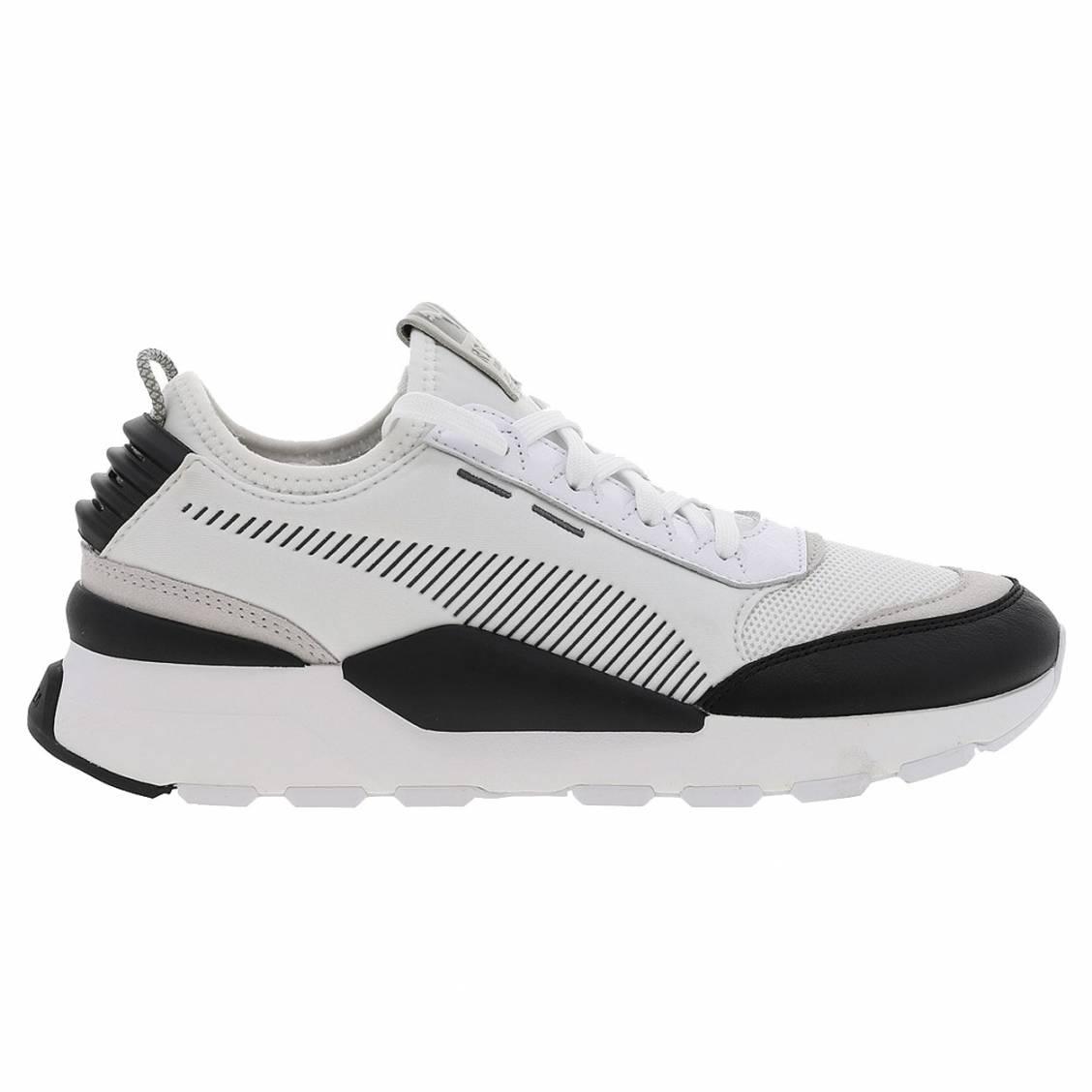 meilleures baskets 77ea6 f9f04 Baskets Puma RS-0 Core en toile blanche à empiècements noirs | Rue Des  Hommes