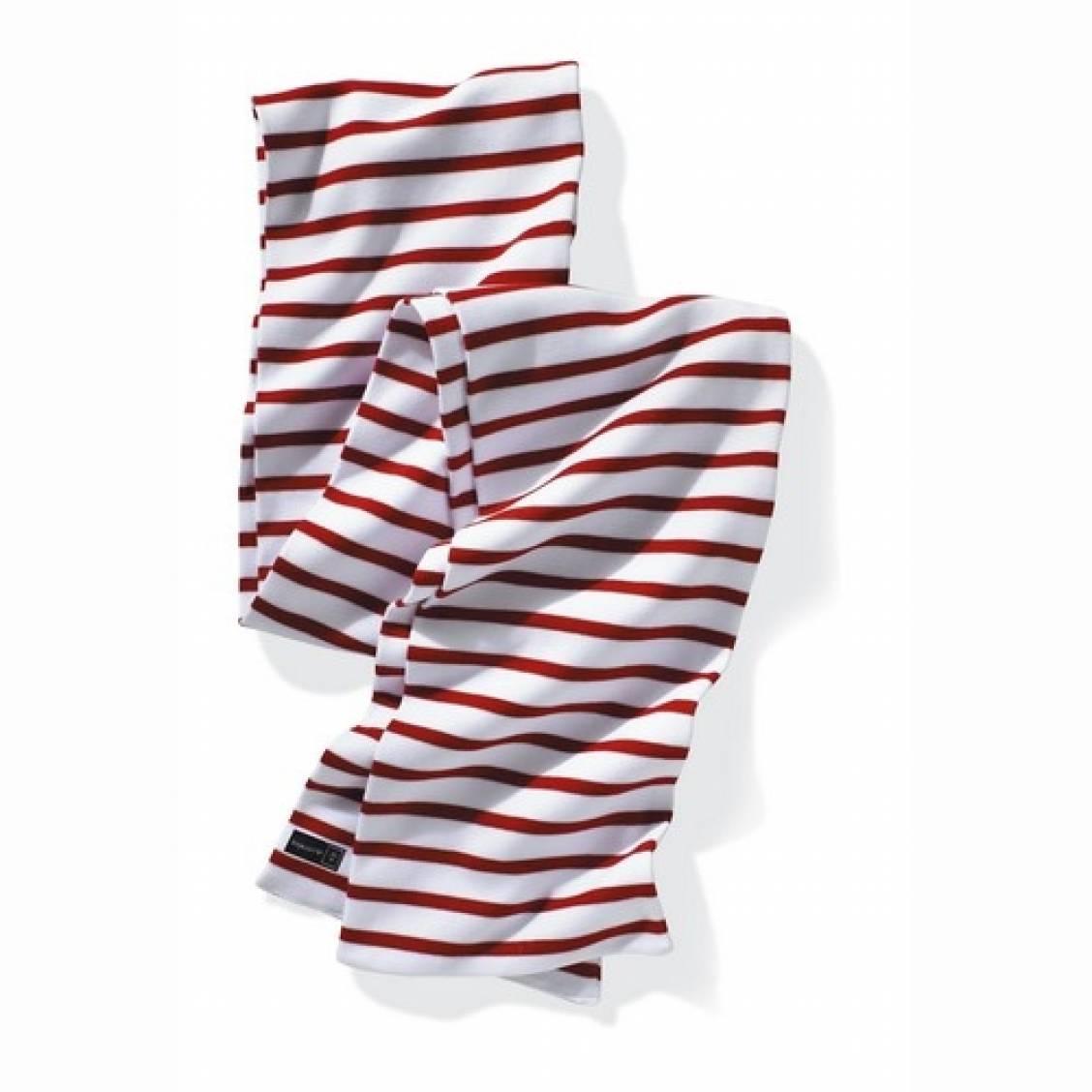 écharpe armor lux à rayures rouges et blanches