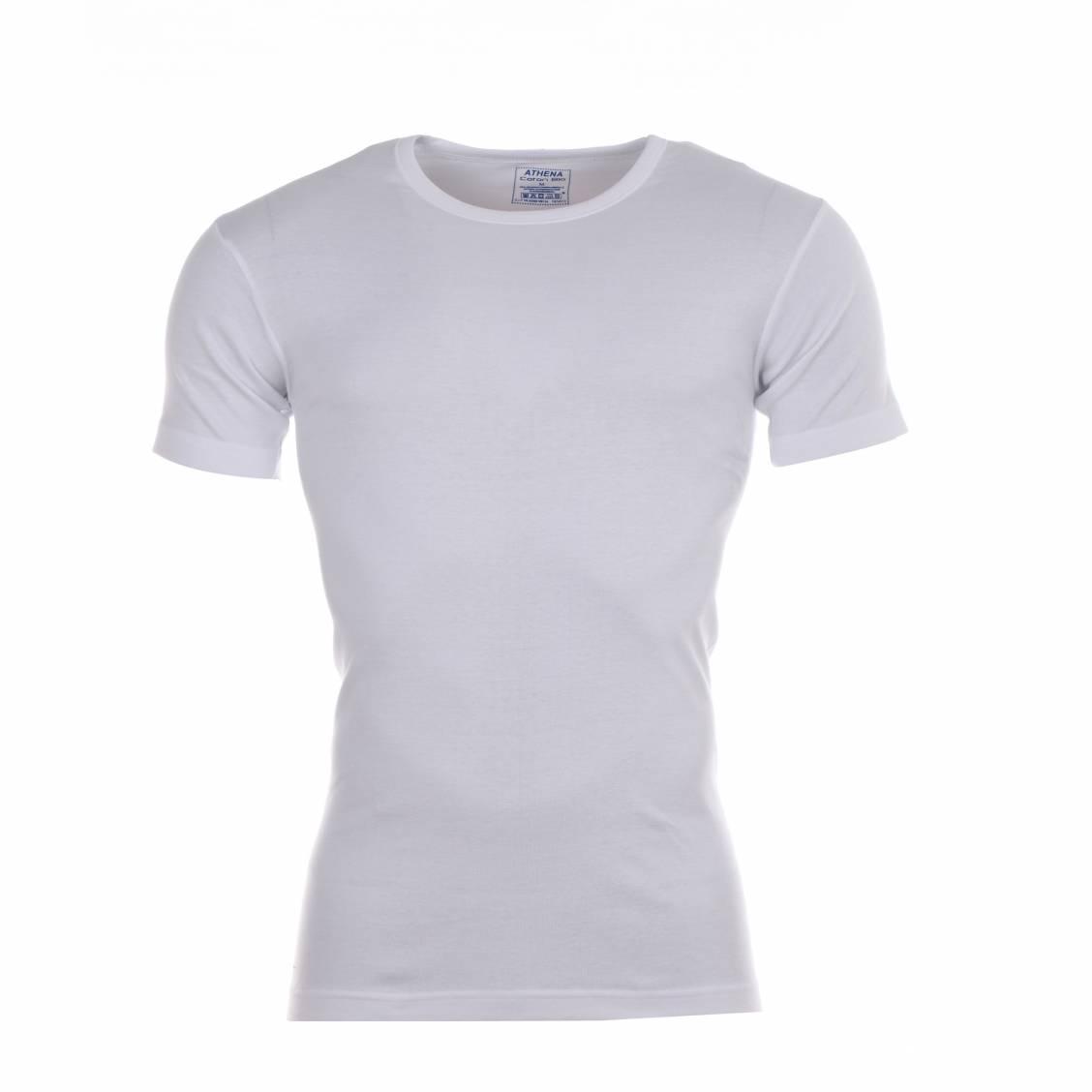 lot de 2 tee-shirts en coton bio blanc