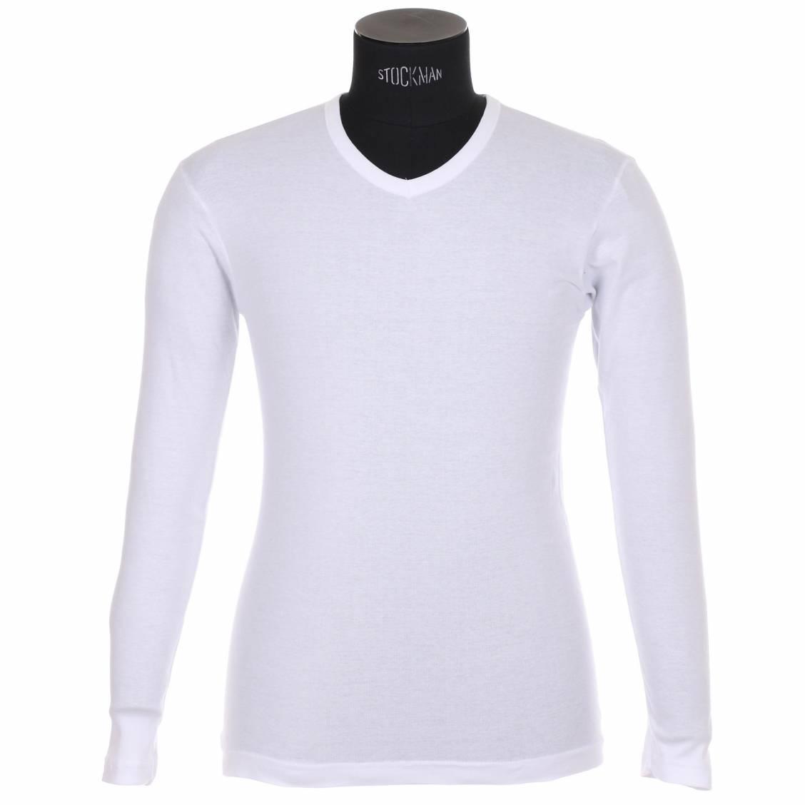 lot 2 tee-shirts manches longues coton bio blanc