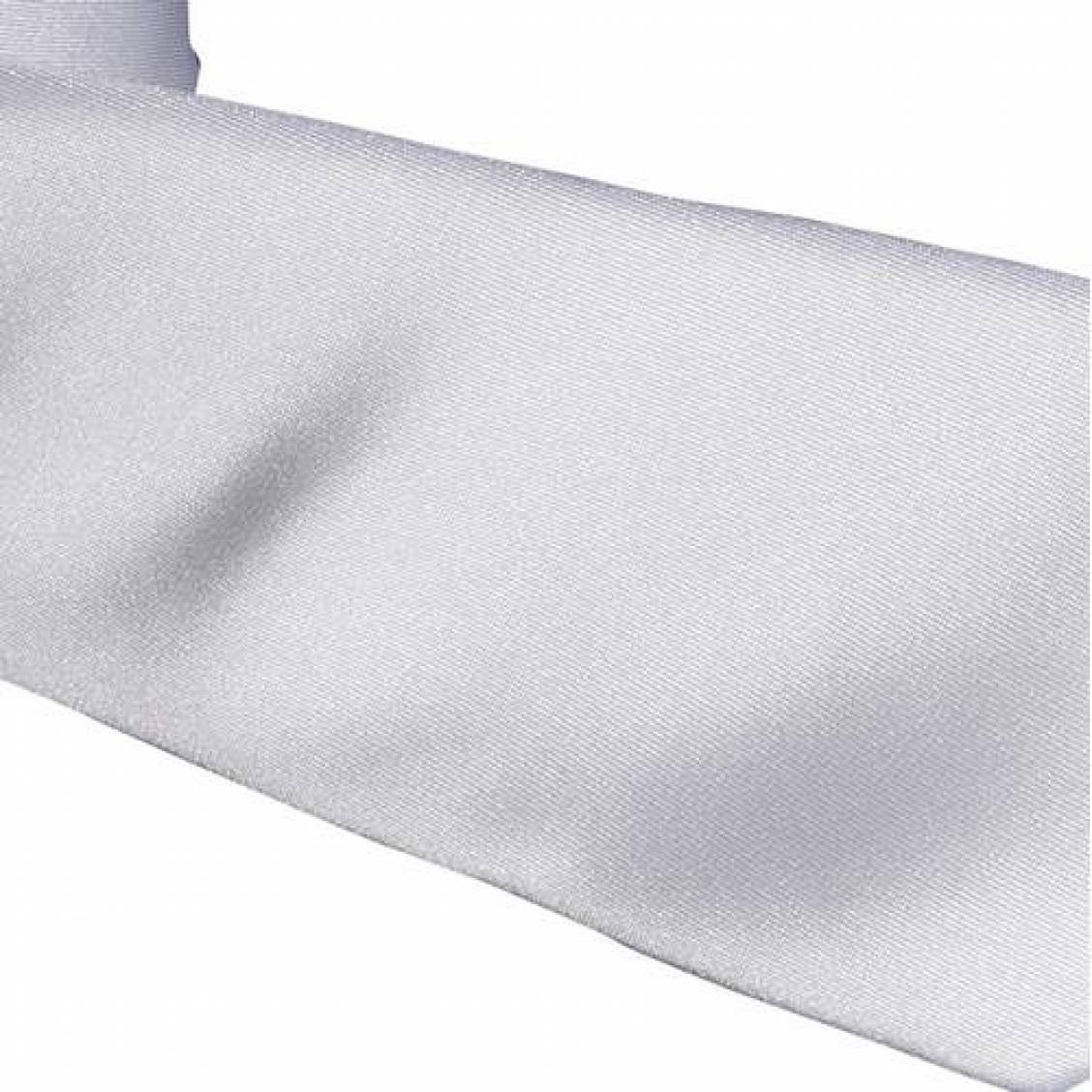 Cravate Touche Finale blanche satinée