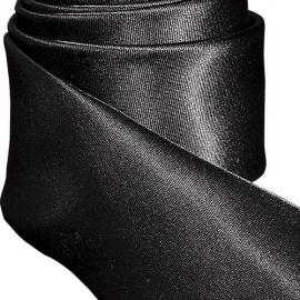 Cravate Tendance Slim noire satinée