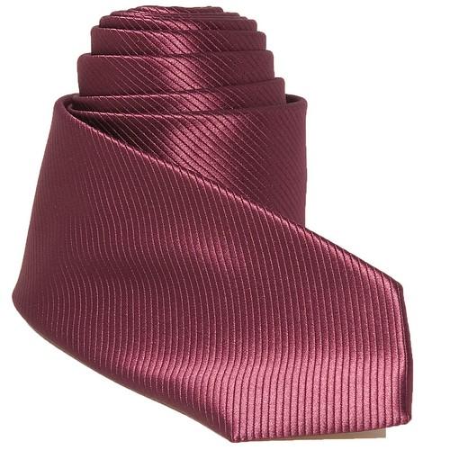Cravate tendance mi-slim bordeaux soyeux