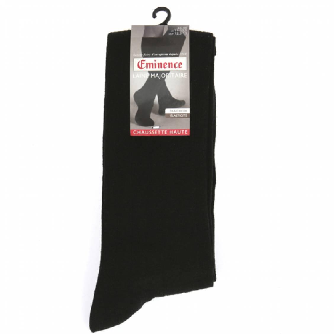 chaussettes hautes en laine noires rue des hommes. Black Bedroom Furniture Sets. Home Design Ideas