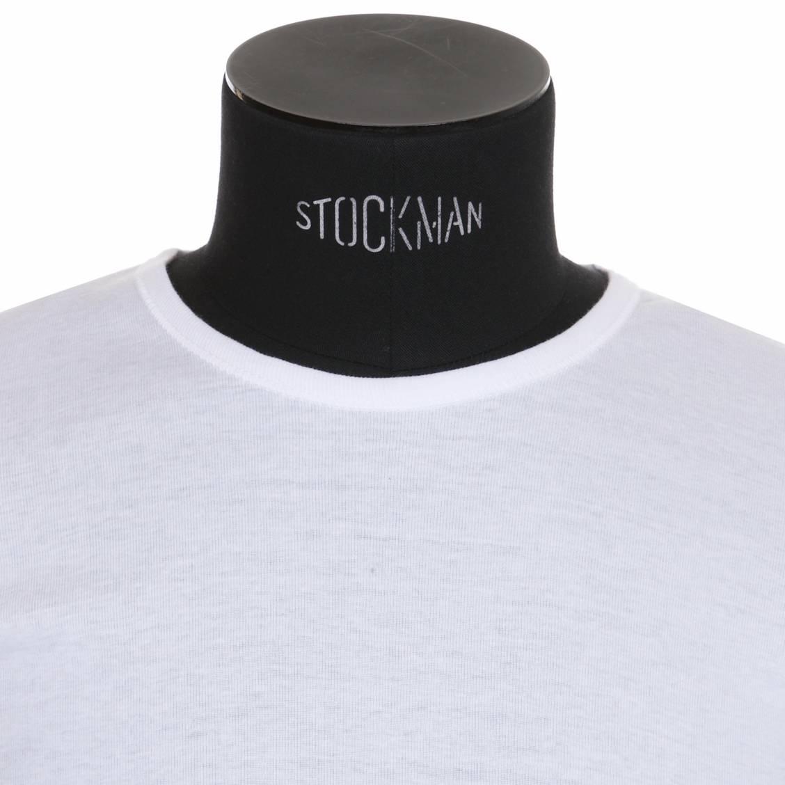 Le tee-shirt blanc Eminence a un col rond