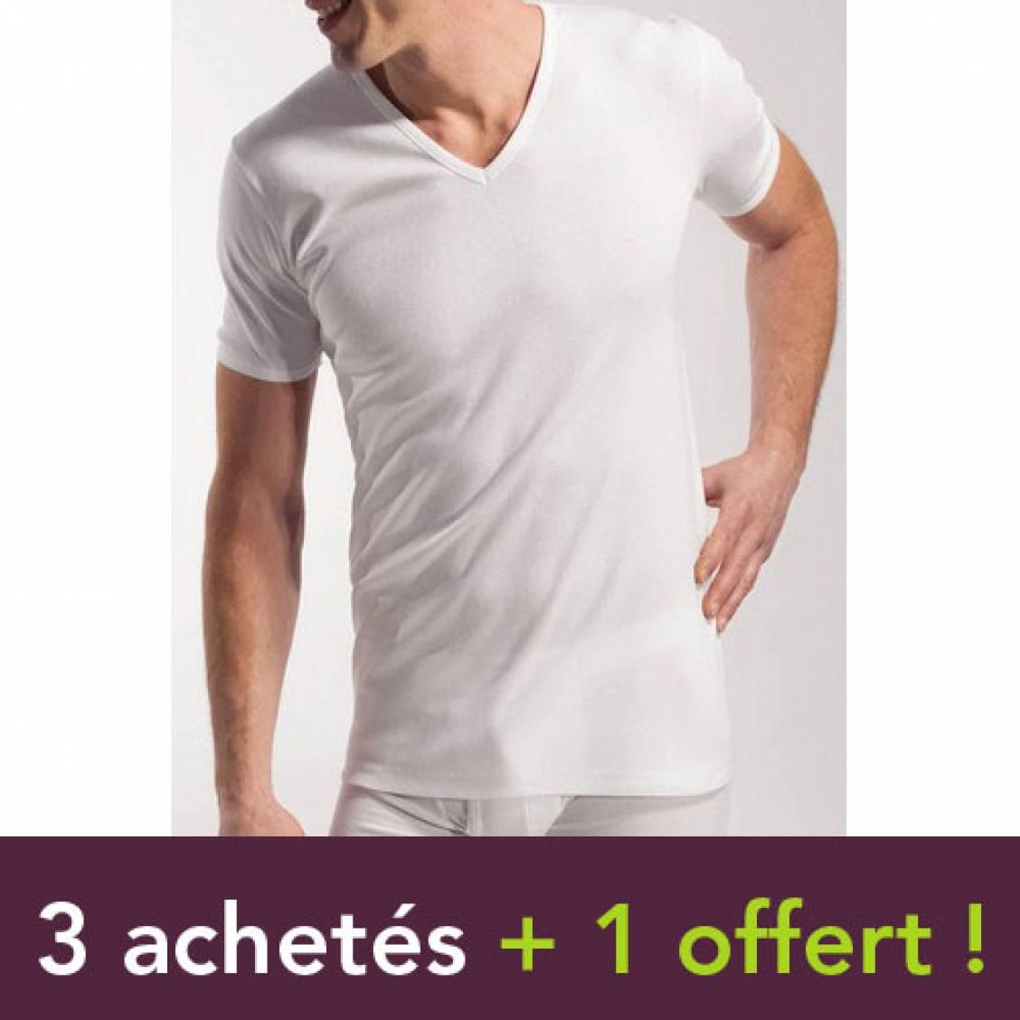 Lot de 4 tee-shirts blancs Eminence