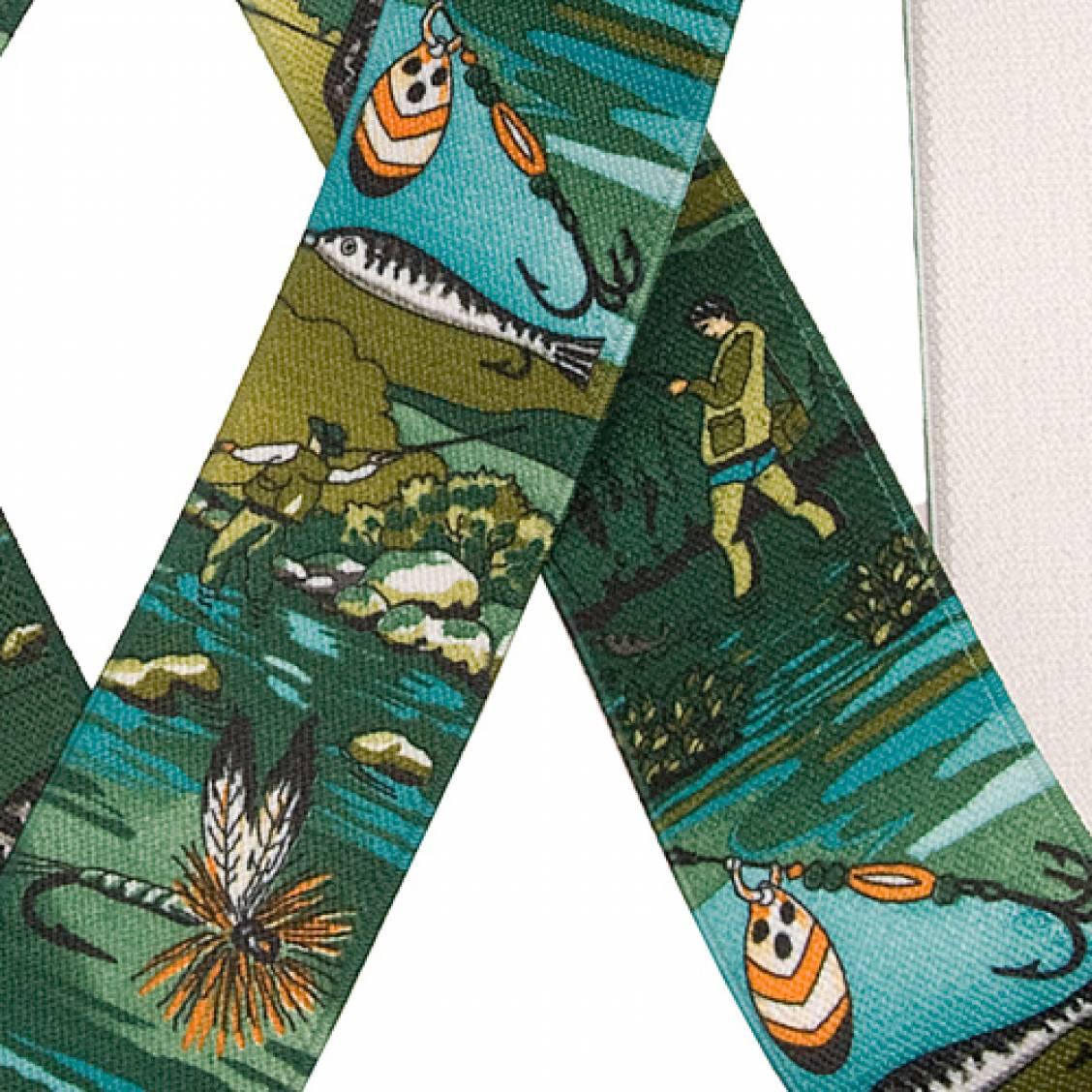 Bretelles vertes à motifs pêcheur Touche Finale