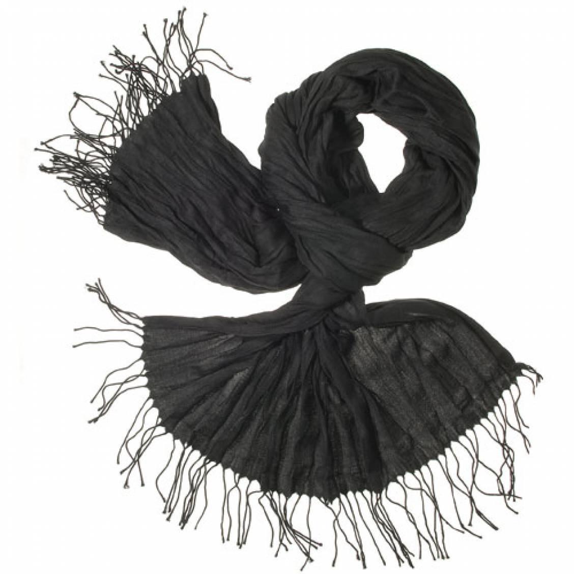 Chèche-pashmina noir