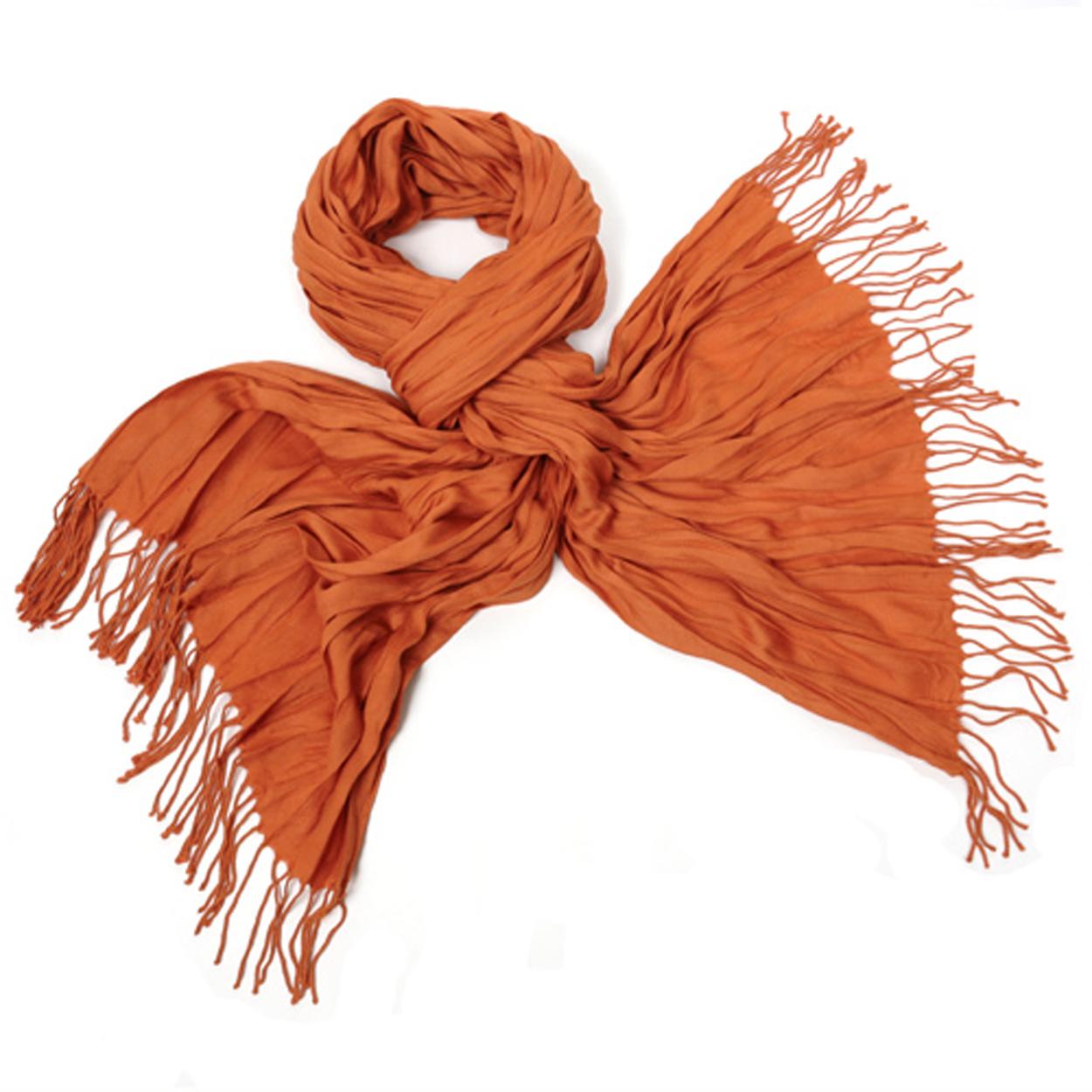 Chèche-pashmina orange