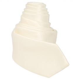 Cravate Tendance Slim beige clair satinée