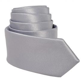 Cravate Tendance Slim gris satinée
