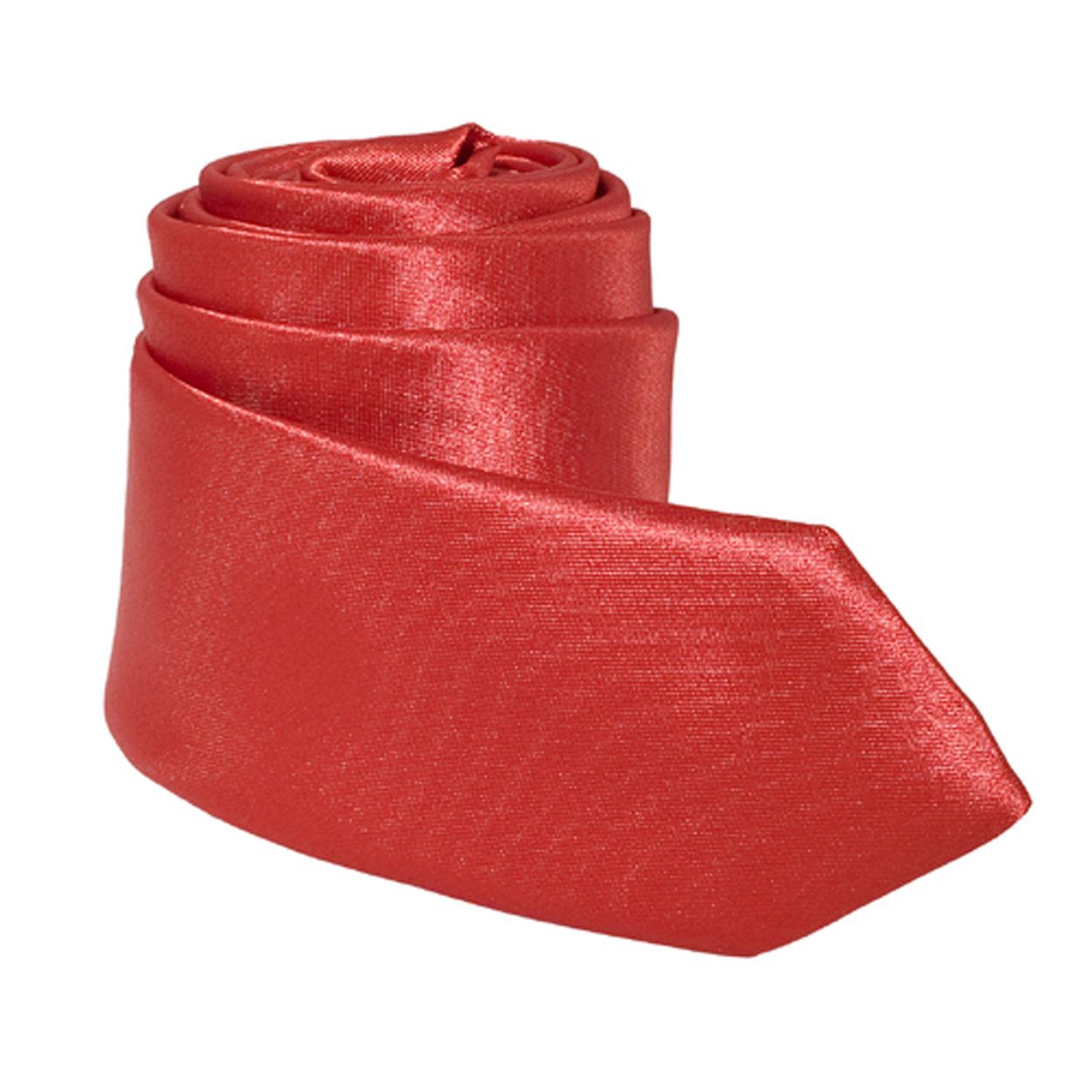 Cravate tendance slim rouge satinée