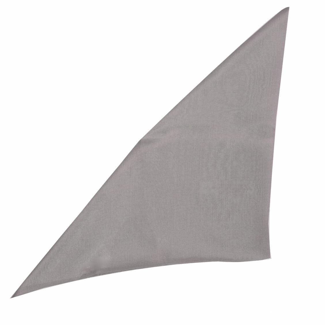 Pochette en soie gris anthracite pour costume