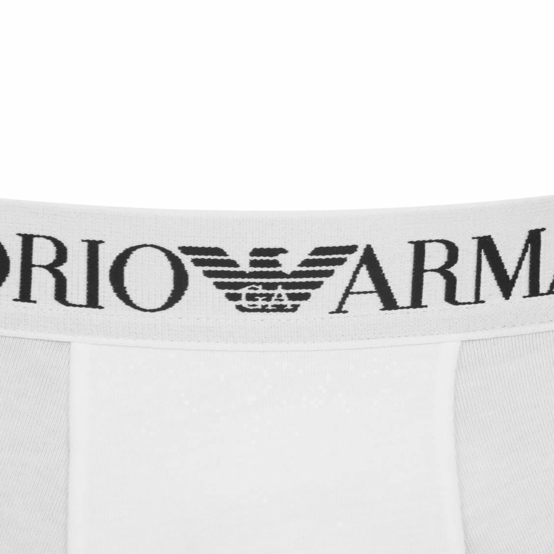 boxer Armani en coton stretch blanc
