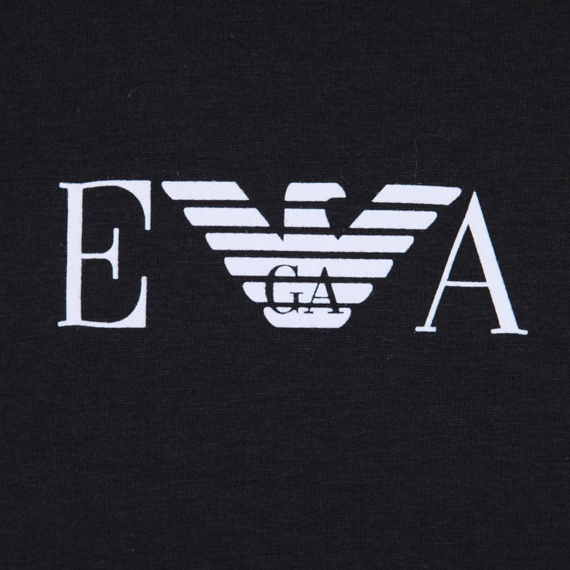 lot de 2 tee-shirts Armani à col rond noir