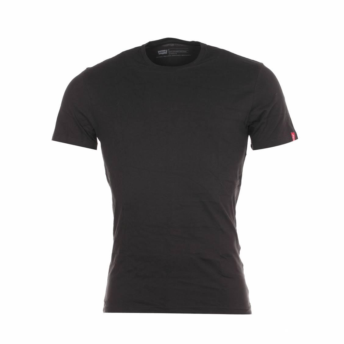 lot de 2 tee shirts noirs levis col rond en coton rue. Black Bedroom Furniture Sets. Home Design Ideas