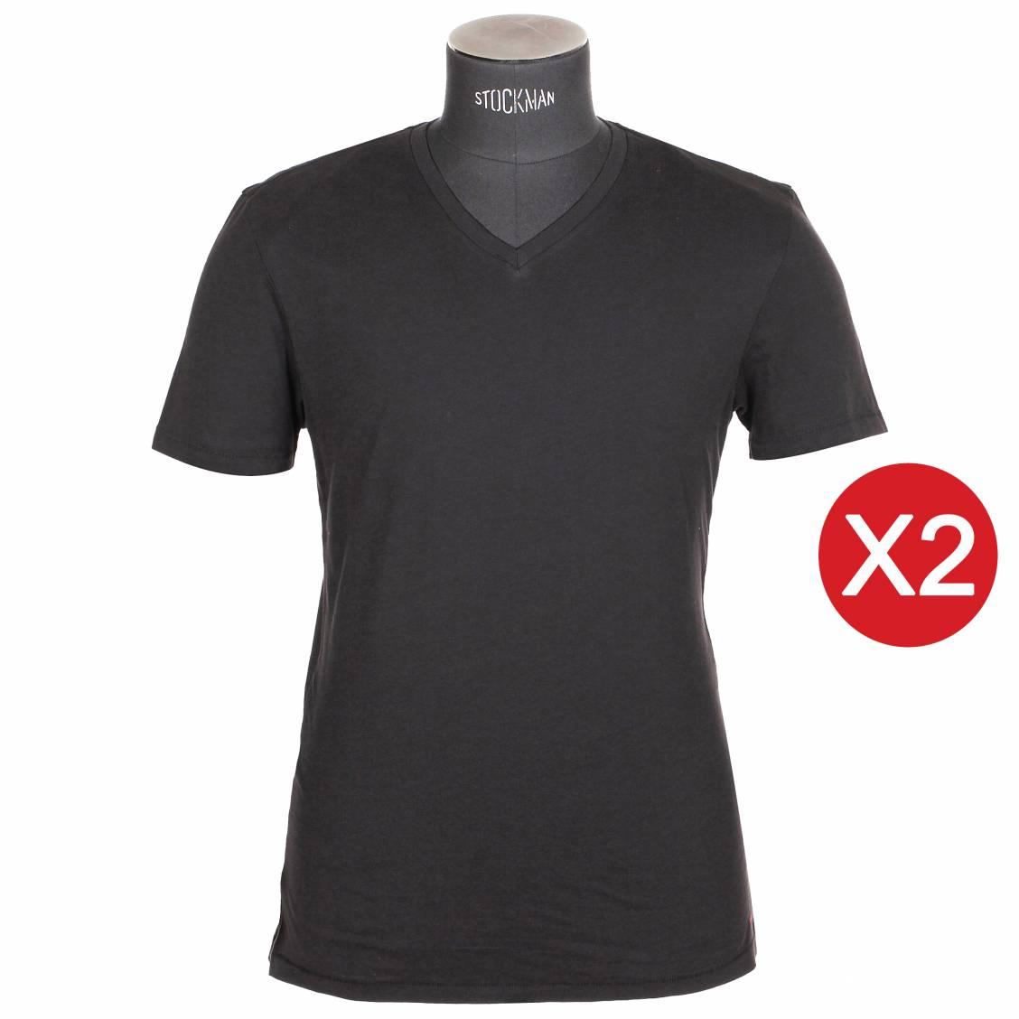 lot de tee-shirts levis noirs col V