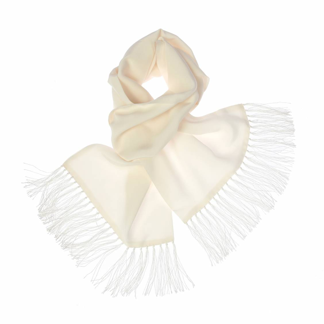 Echarpe en soie crème pour smokings et costumes