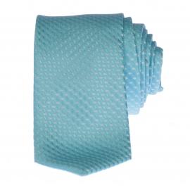 Cravate Faux Uni Turquoise