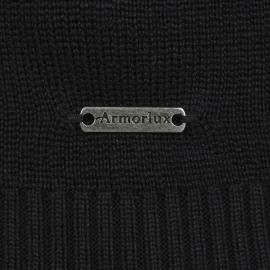 Cardigan zippé Noir Armor Lux Carnac