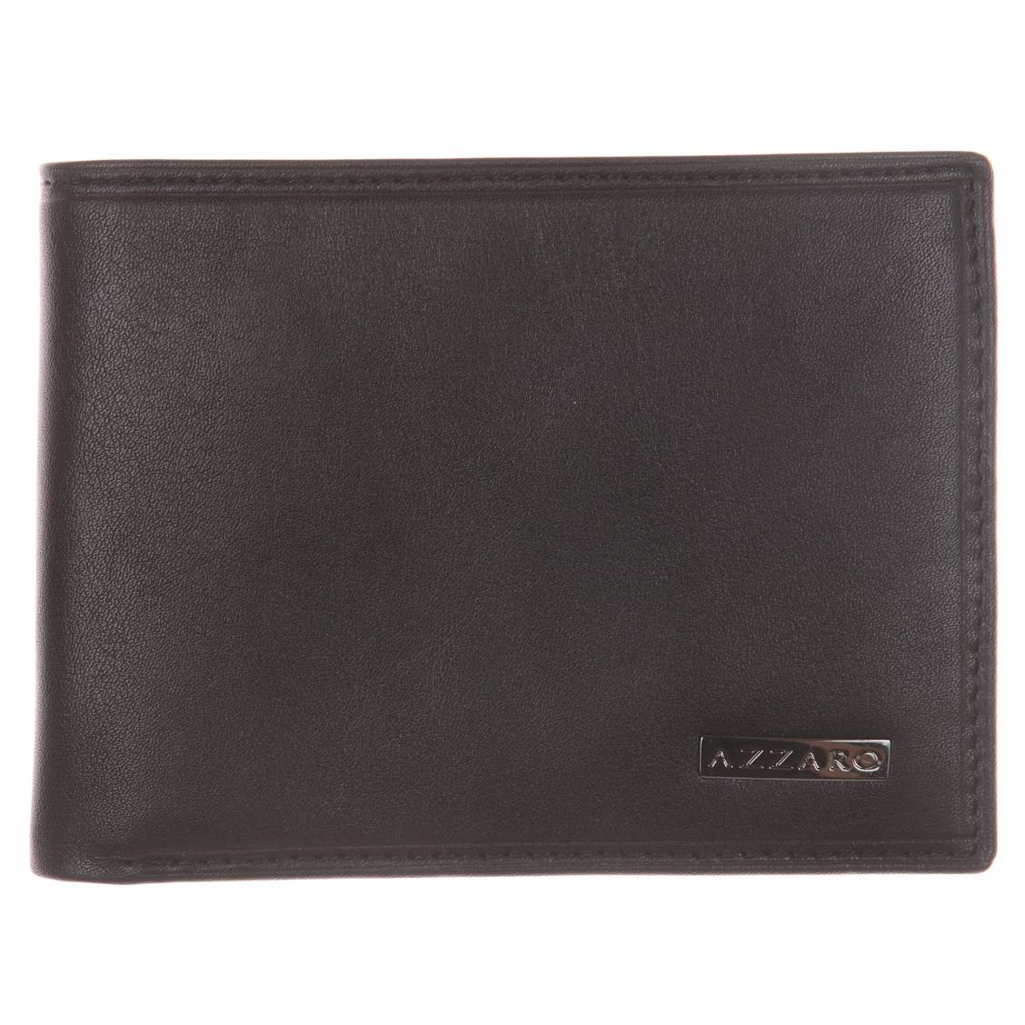 portefeuille italien Azzaro en cuir noir