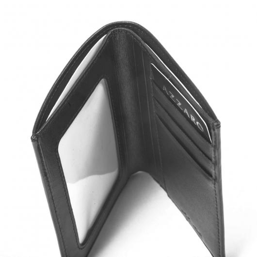 portefeuille azzaro cuir noir