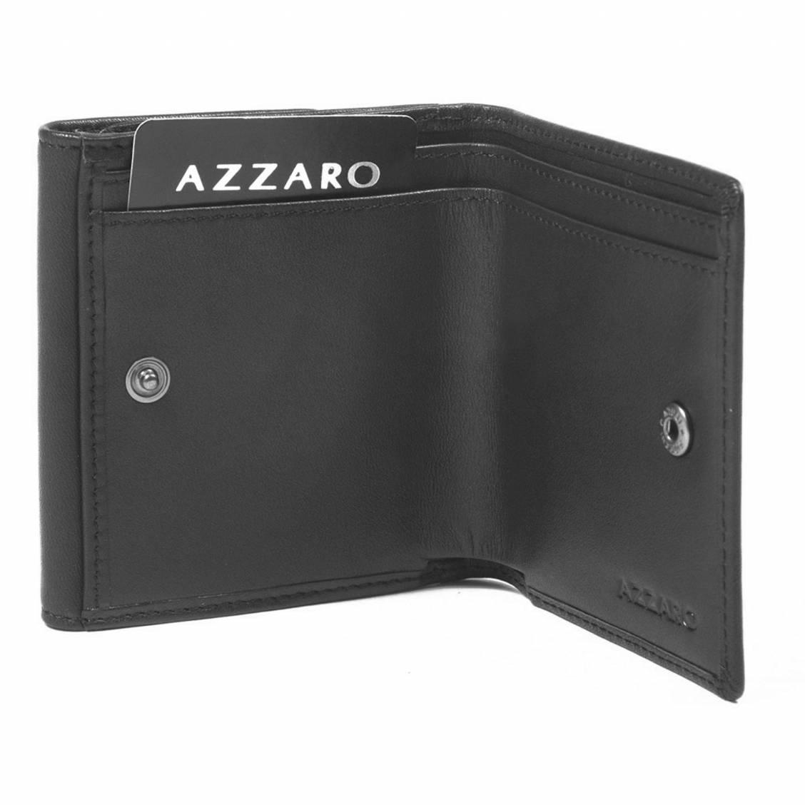 porte monnaie Azzaro en cuir noir