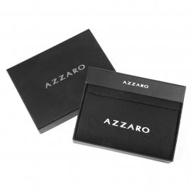 Portefeuille Azzaro en cuir noir