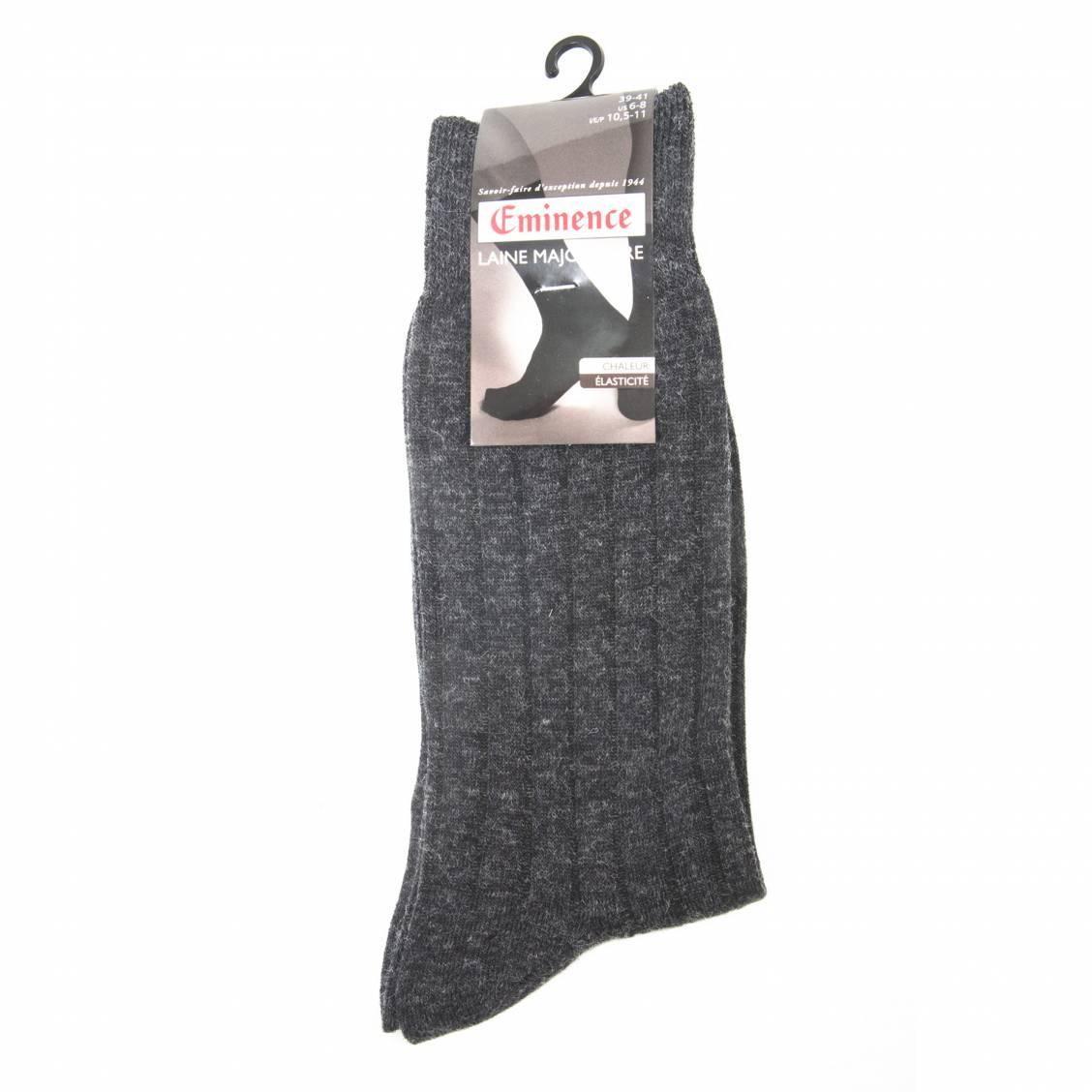 chaussettes eminence c tel es en laine anthracite rue des hommes. Black Bedroom Furniture Sets. Home Design Ideas