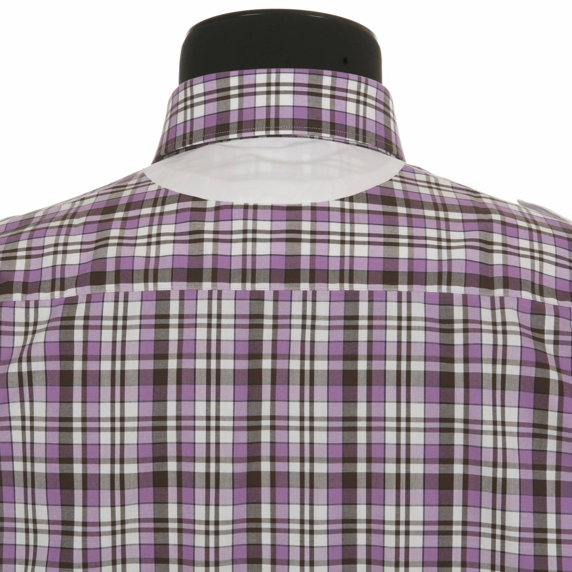 chemise cintrée carreaux violets