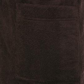Peignoir en boucle de coton Marron écorce