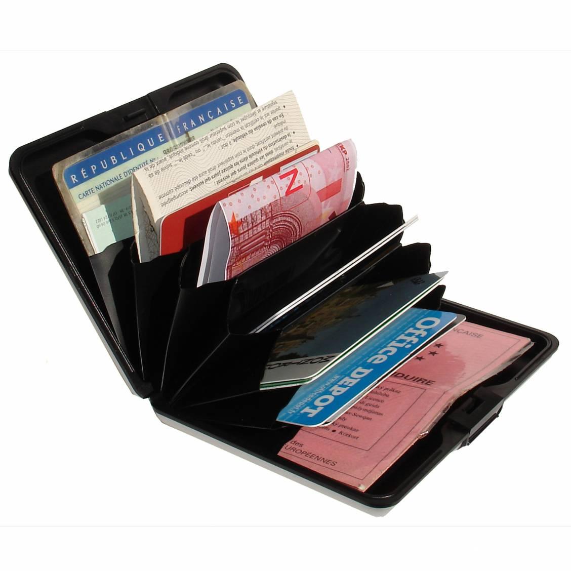 porte-cartes Ögon designs à motif liberty bleu