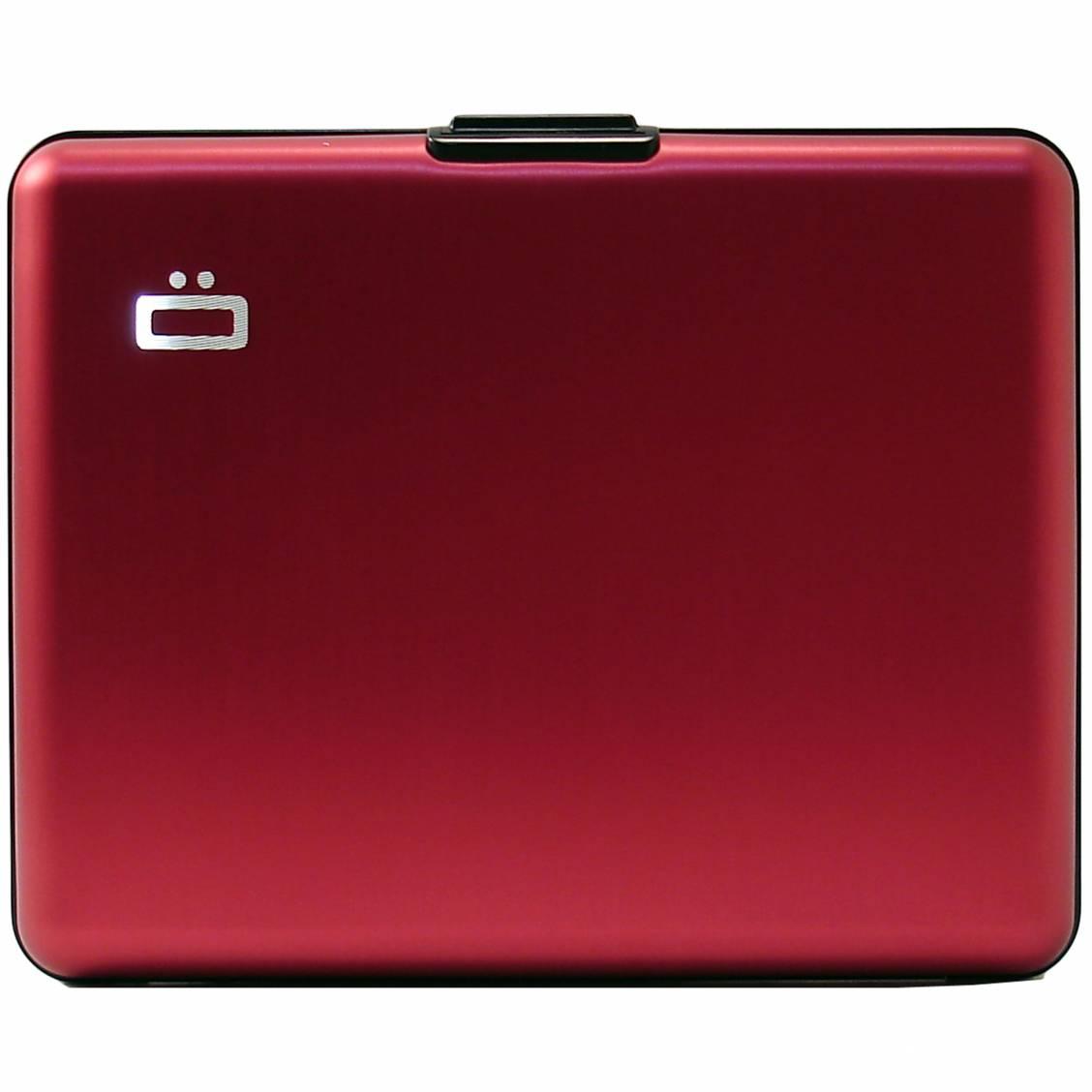 portefeuille Ögon designs en aluminium rouge
