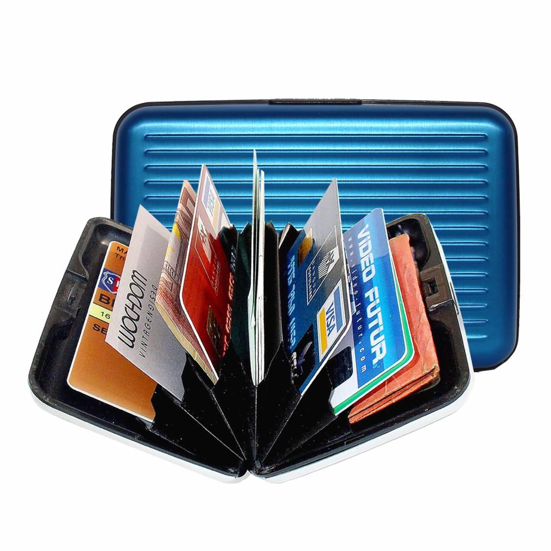 porte-cartes Ögon designs en aluminium bleu