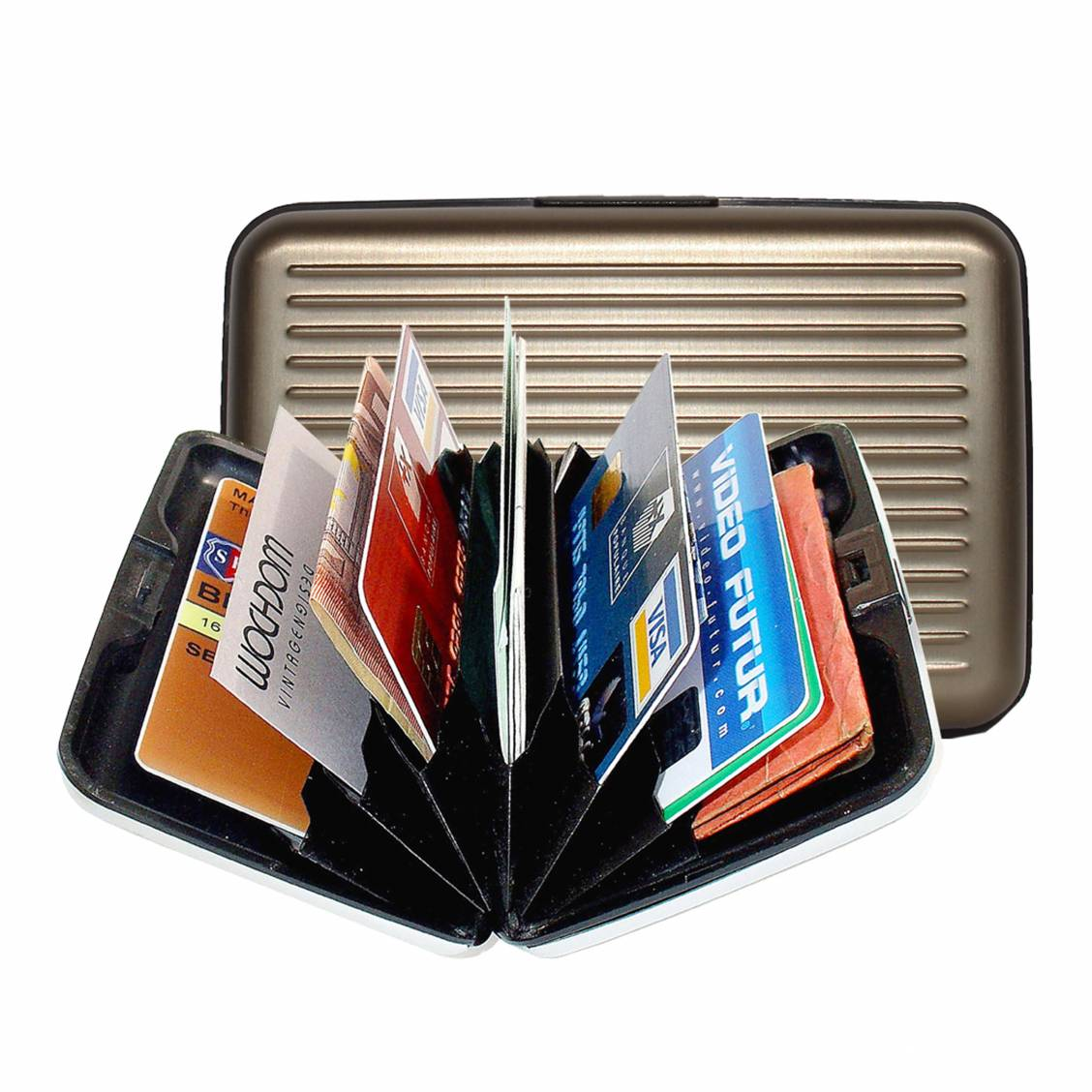 porte-cartes Ögon en aluminium