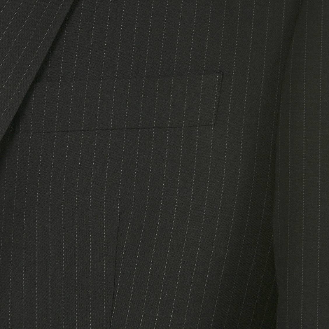 Veste de costume noire à fines rayures grises Selected