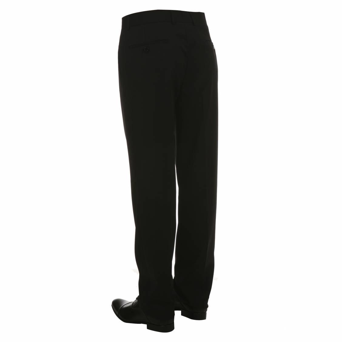 pantalon de costume Touche Finale noir avec poches et doublure