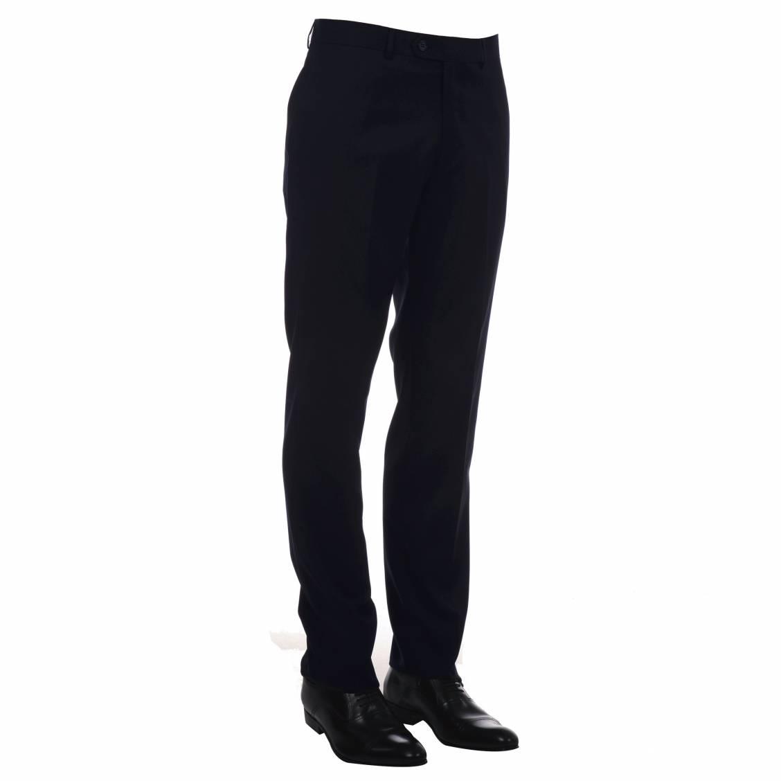 Pantalon de costume Marine, coupe droite. Marque de de vêtements et accessoires pour Hommes, Touche finale allie modernité et allure avec