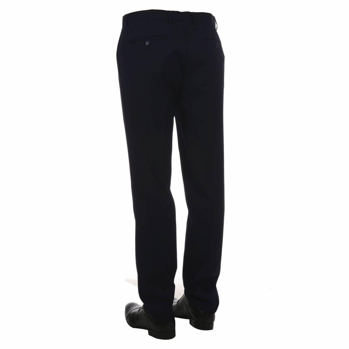 Pantalon de costume Touche Finale bleu marine à coupe droite