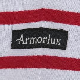 Marinière Theviec Armor Lux en Jersey de coton Blanc-Braise