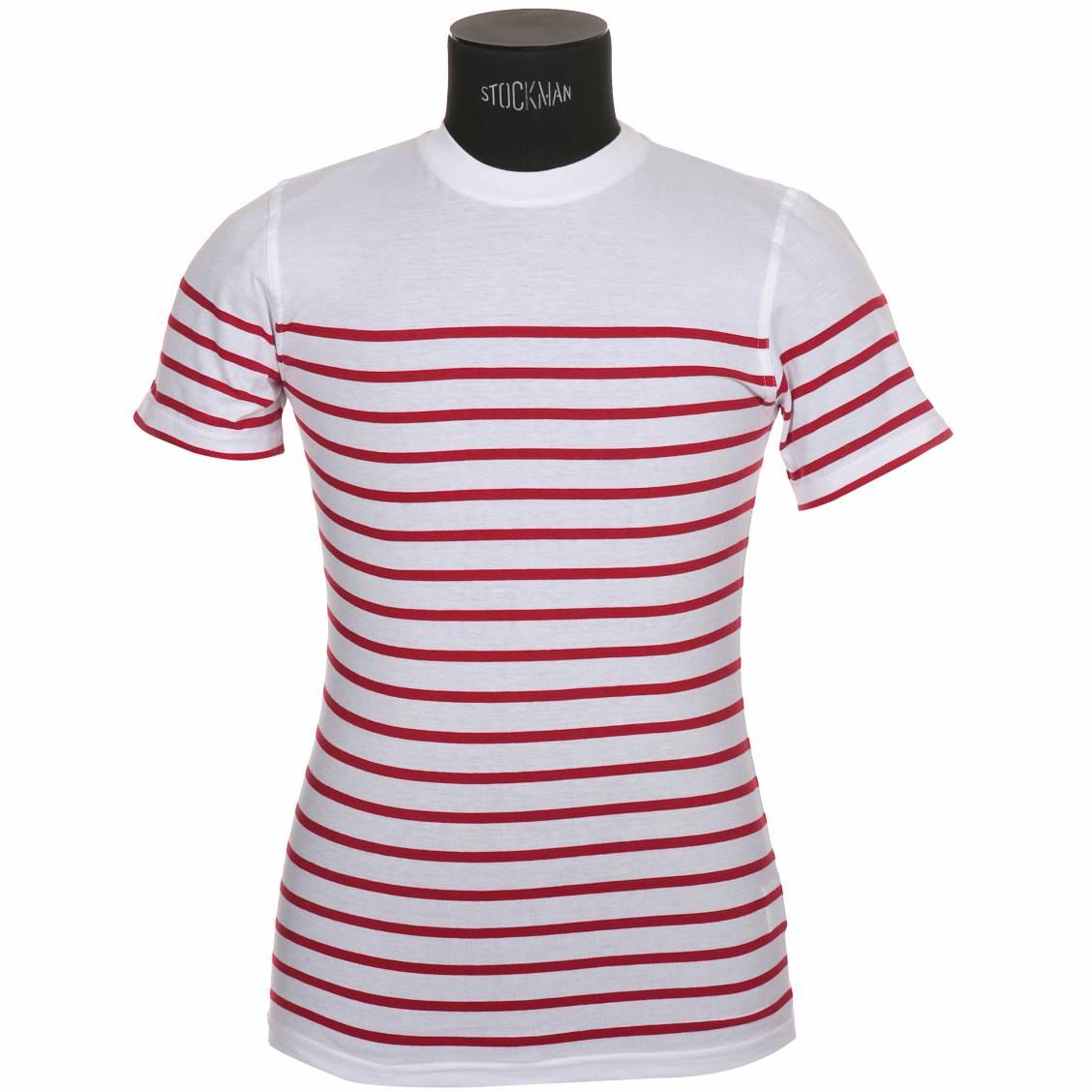 tee shirt manches courtes armor lux en jersey de coton blanc braise rue des hommes. Black Bedroom Furniture Sets. Home Design Ideas