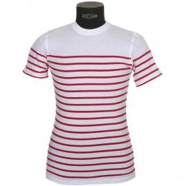 Tee-shirt Manches Courtes Armor Lux en Jersey de coton Blanc-Braise