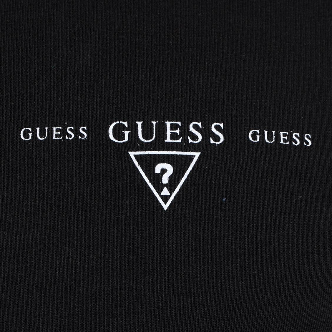 tee-shirt guess en coton stretch noir