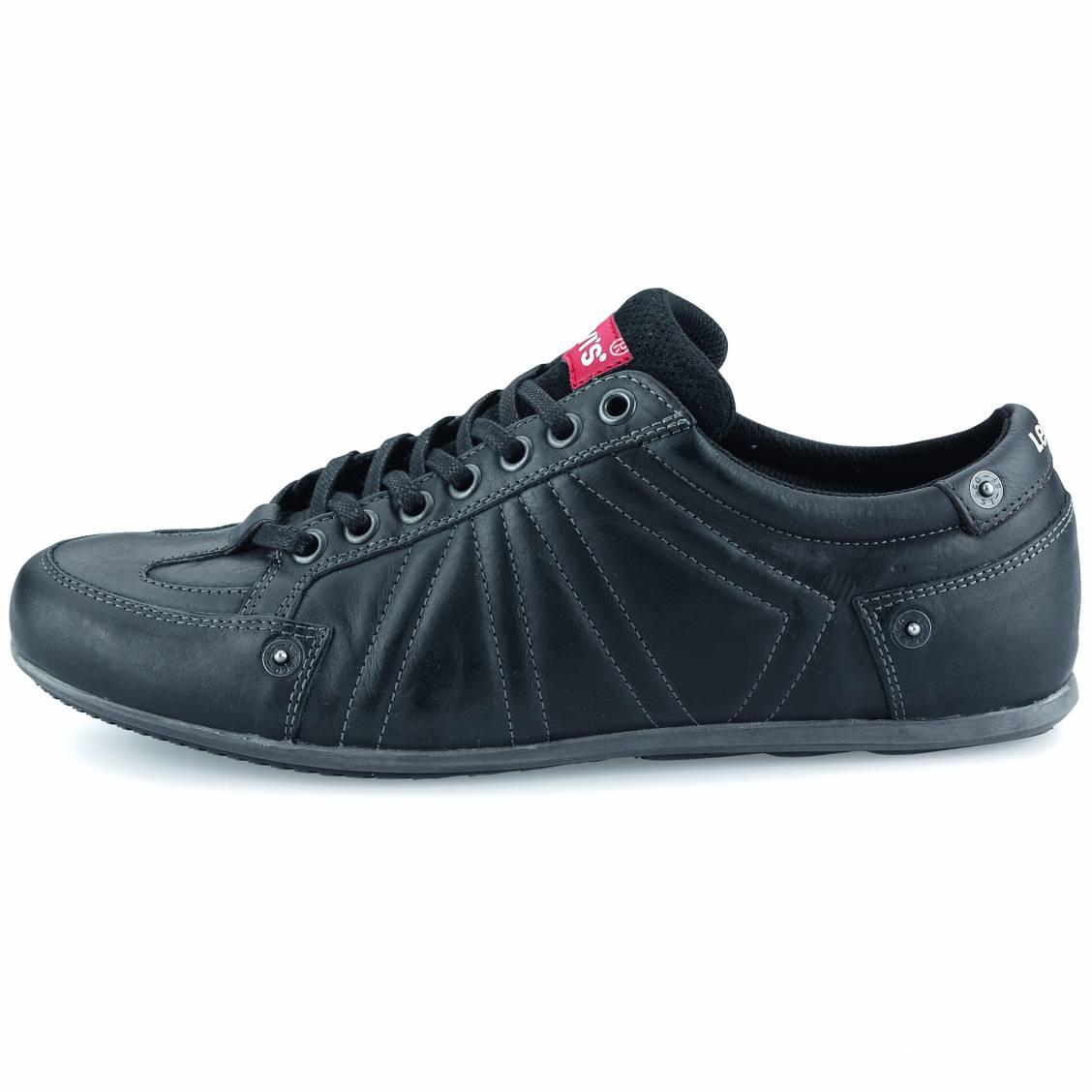 chaussures homme levi s en cuir noir. Black Bedroom Furniture Sets. Home Design Ideas