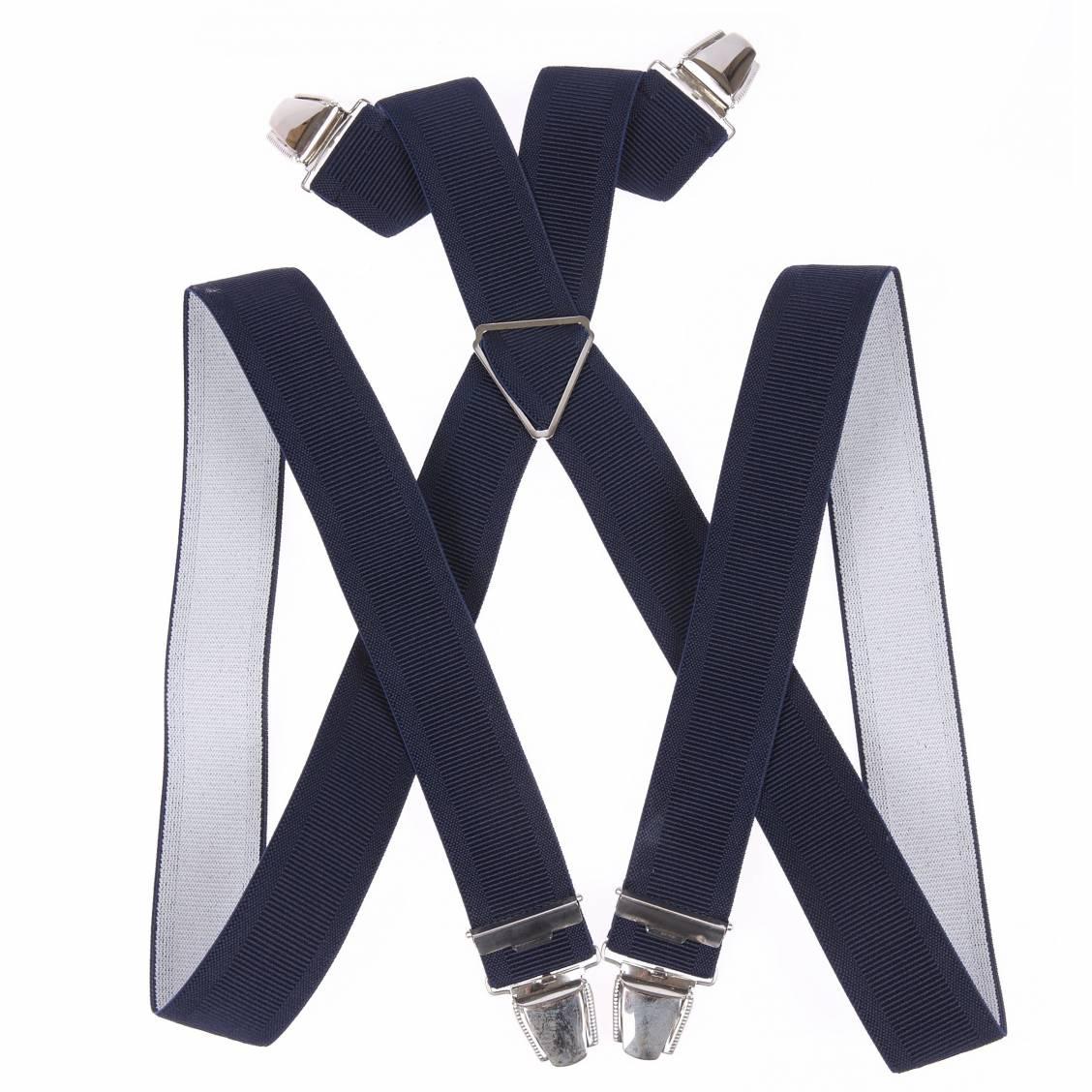 bretelles touche finale bleu marine élastiquées